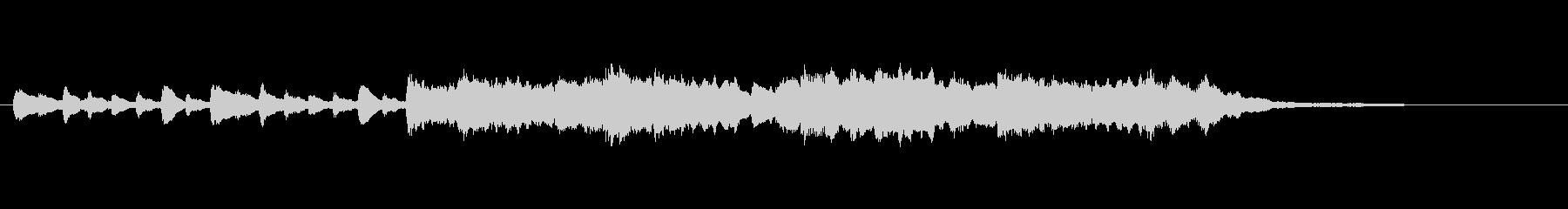 バイオリンの悲劇的なショートBGMの未再生の波形