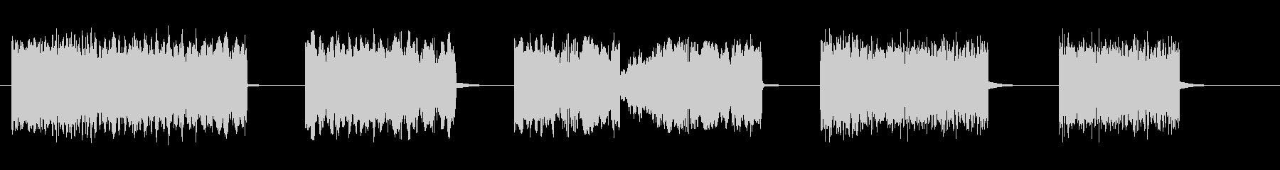 ショートブロークンノイズパルススイープの未再生の波形