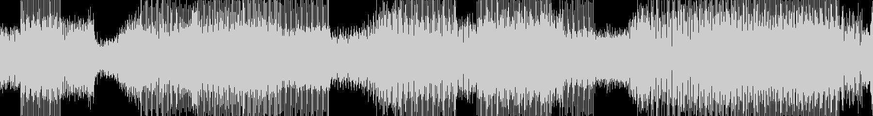 シンセサイザーが印象的な近未来サウンドの未再生の波形
