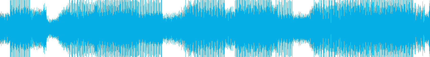 シンセサイザーが印象的な近未来サウンドの再生済みの波形