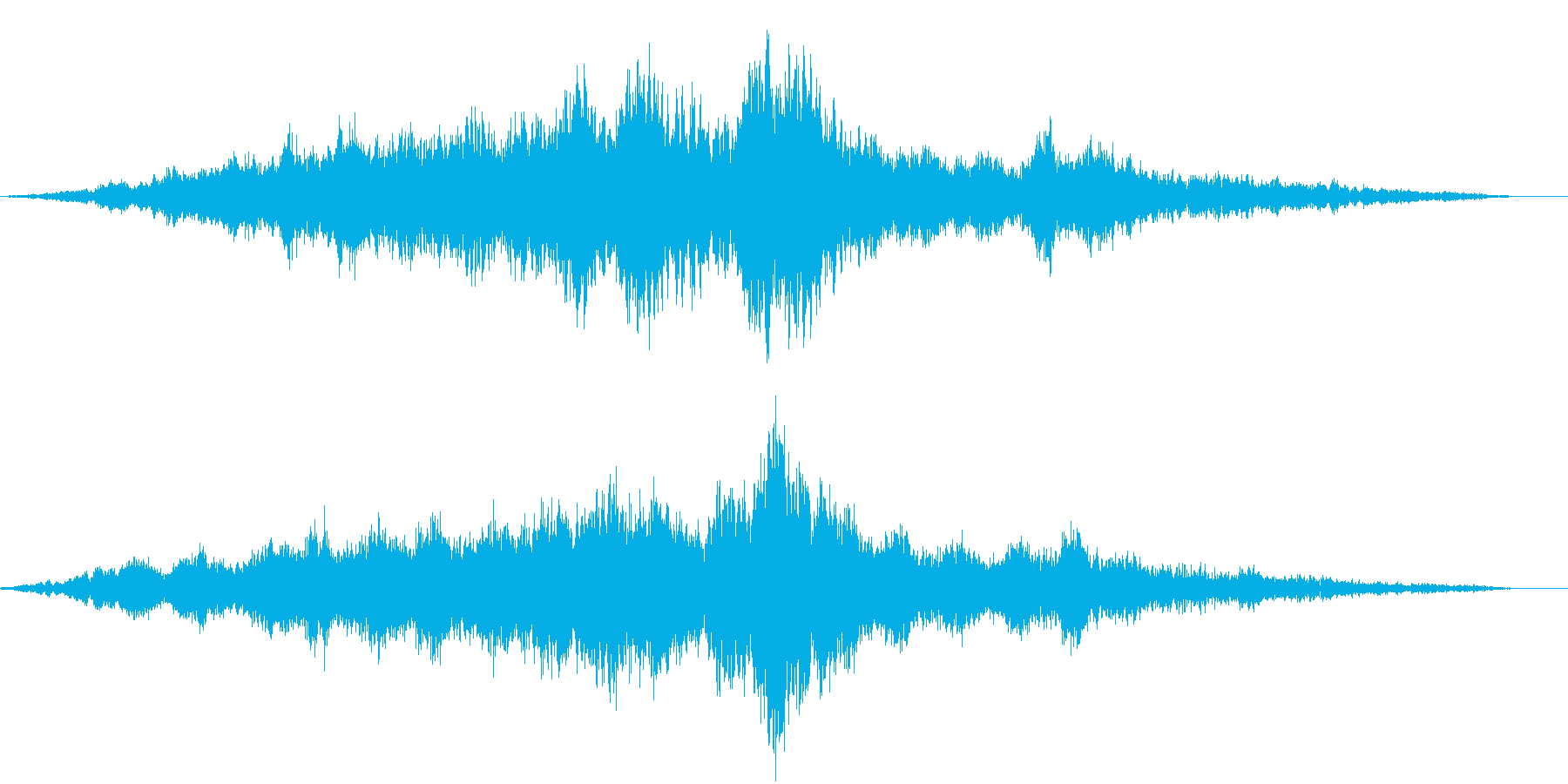【ホラー映画】何かに気づく シーンの再生済みの波形