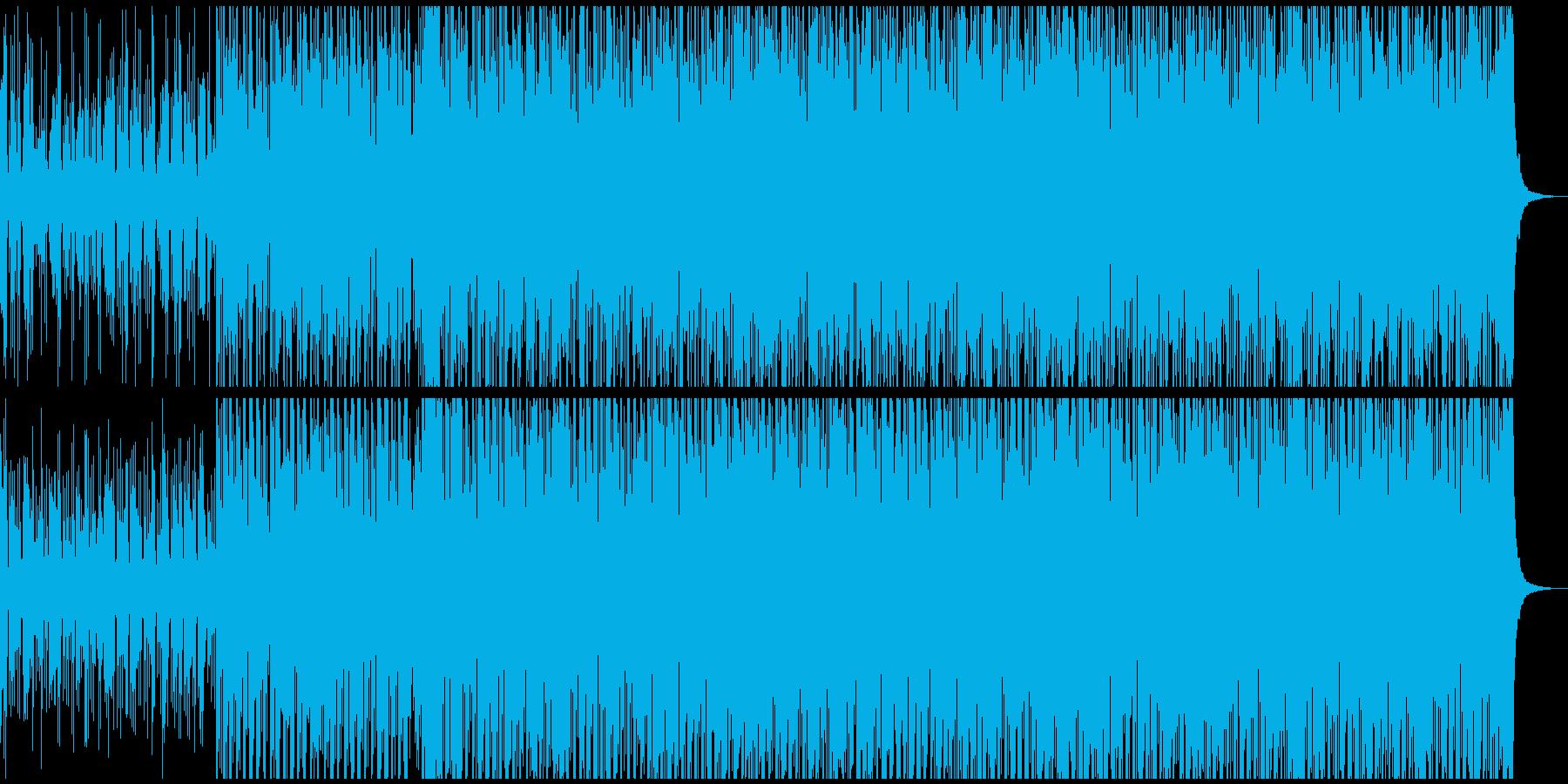 強調性のあるしっかりしたエレクトロビートの再生済みの波形