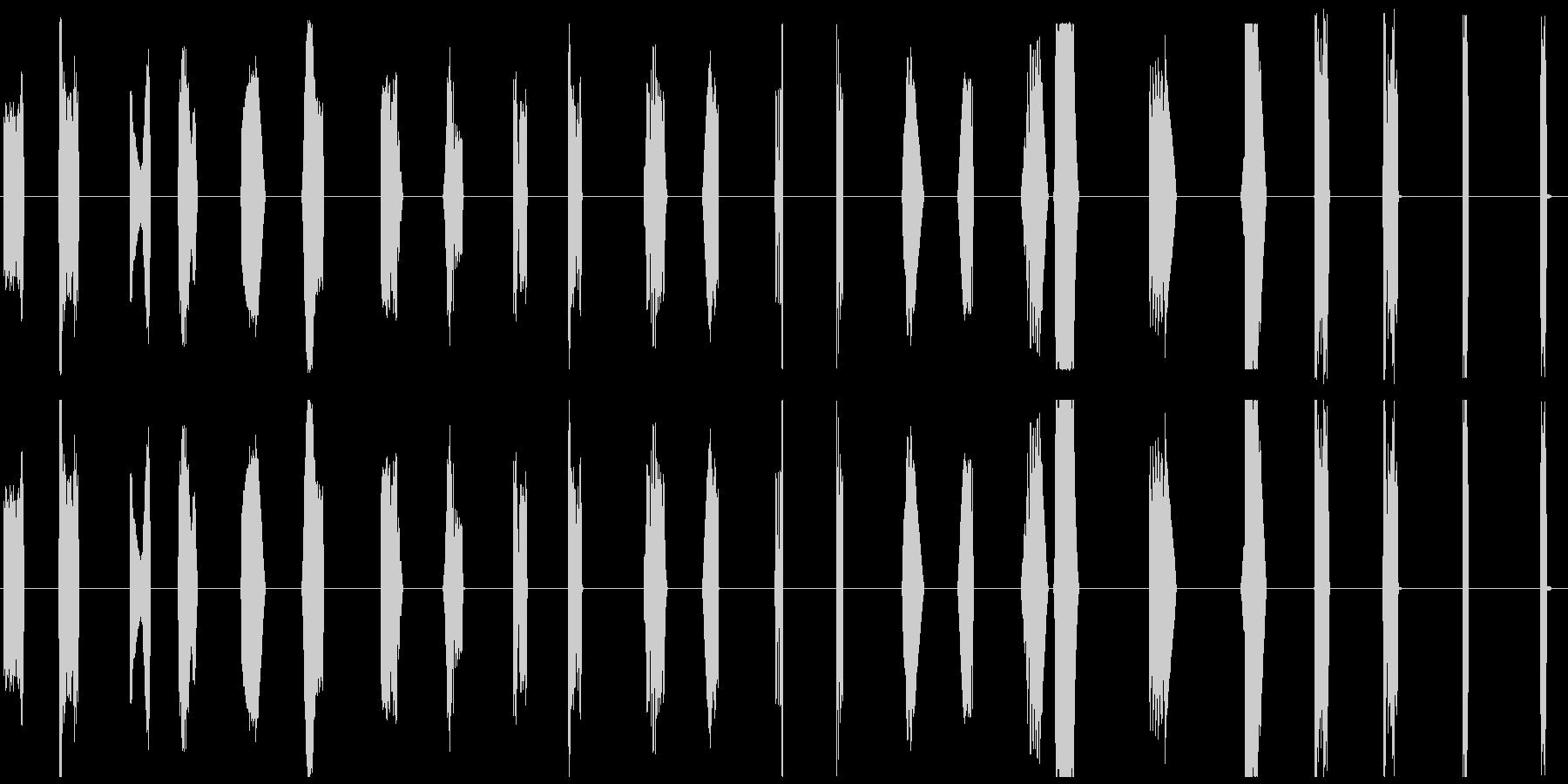 【SFなコンピュータ操作とアラート音】の未再生の波形