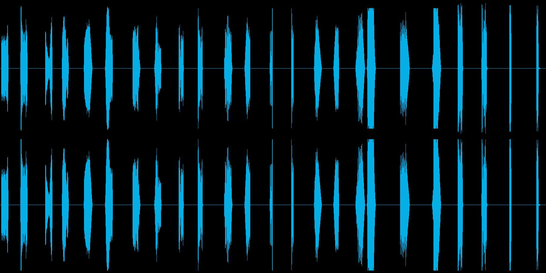 【SFなコンピュータ操作とアラート音】の再生済みの波形