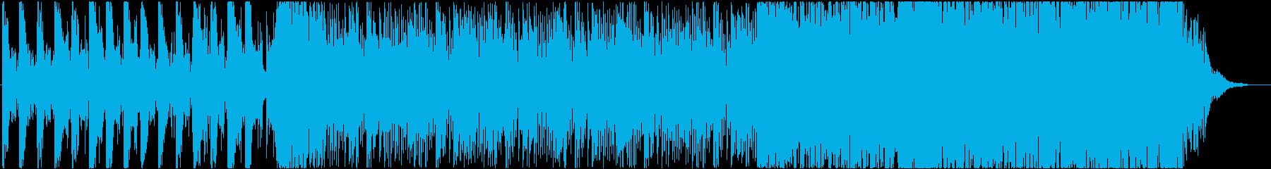 緊迫感のあるエレクトロ系BGMの再生済みの波形