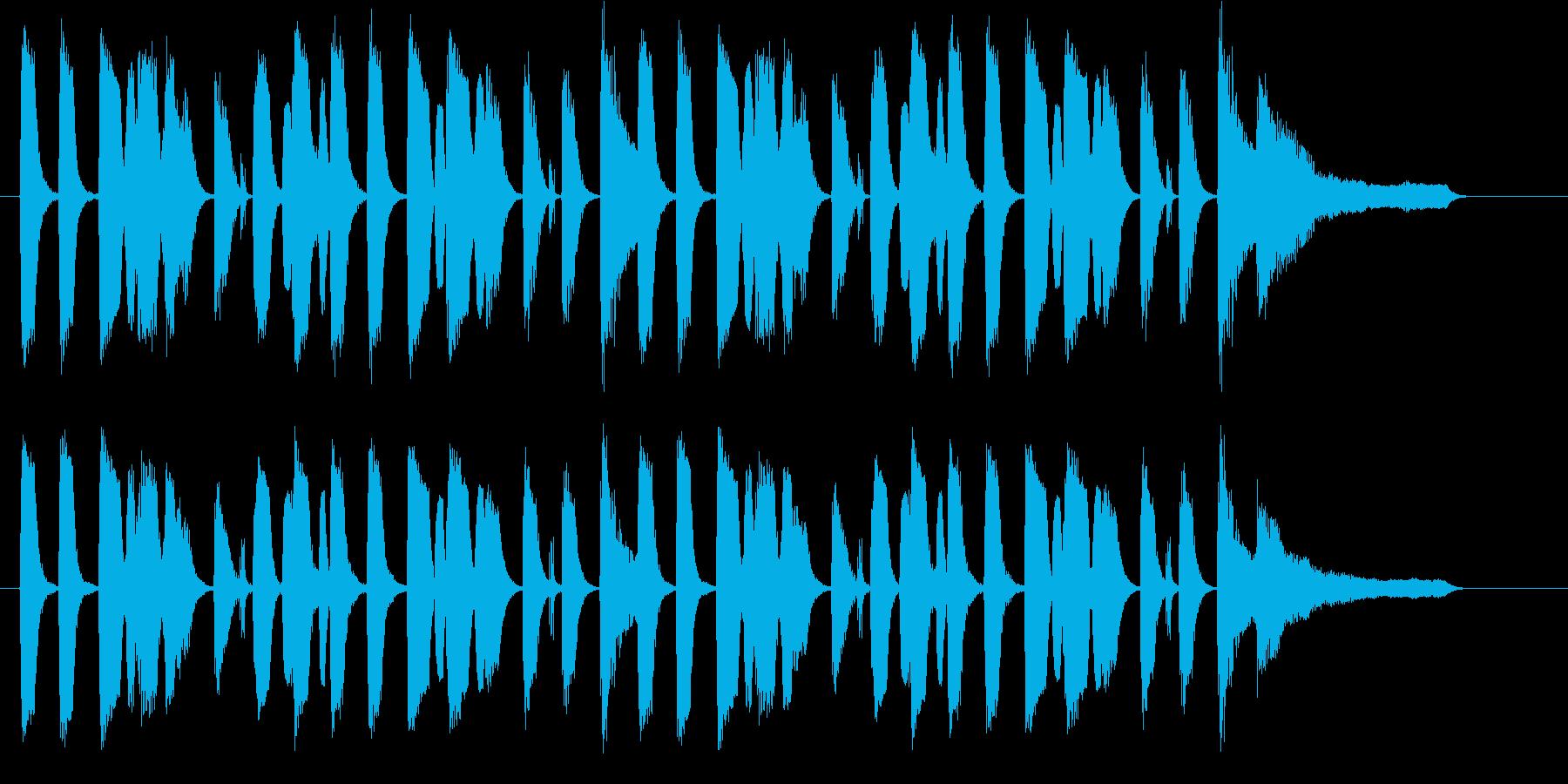 口笛メロディのコンセプトBGM♪の再生済みの波形