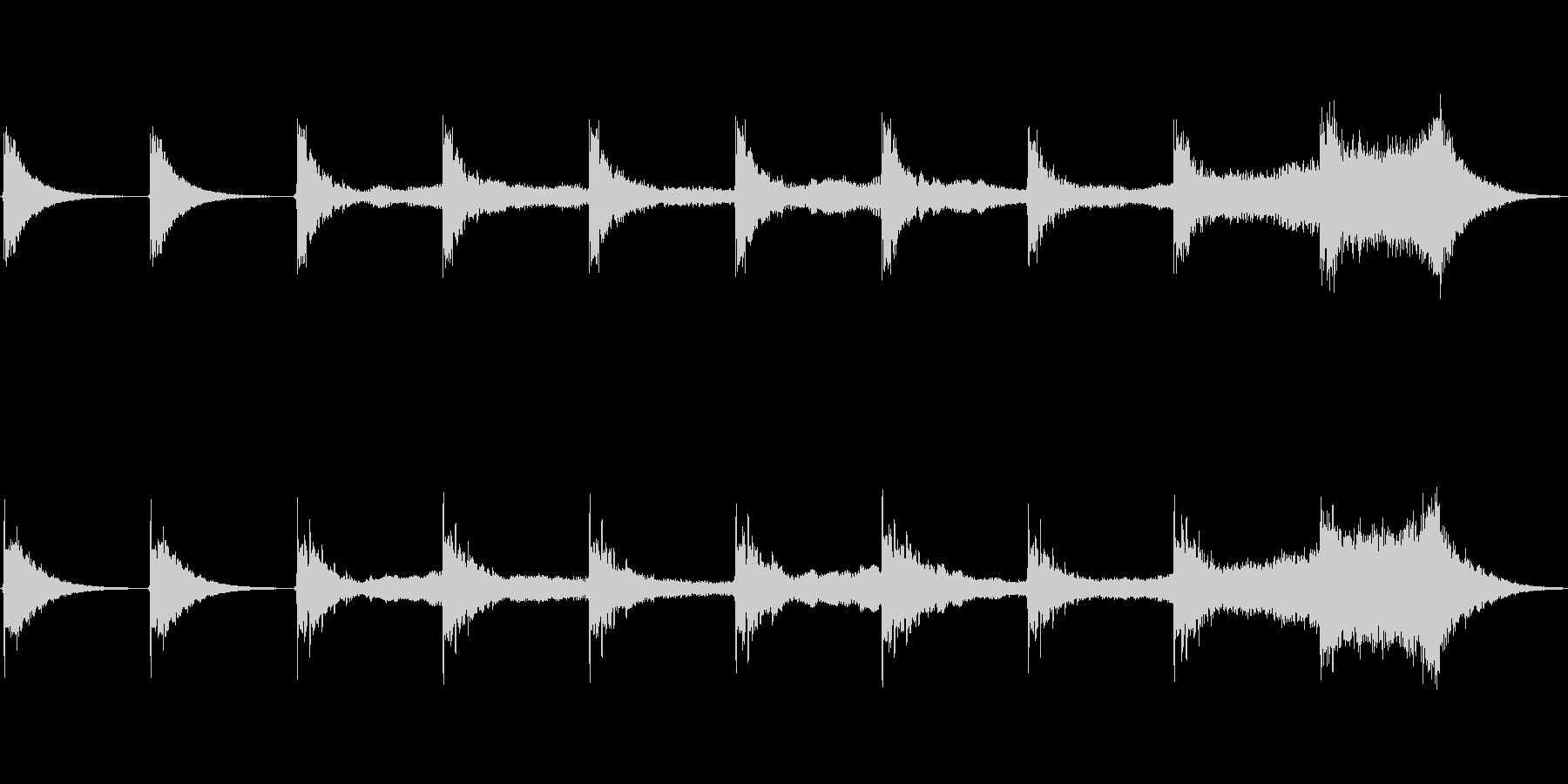 シーケンス ベースヒット01の未再生の波形
