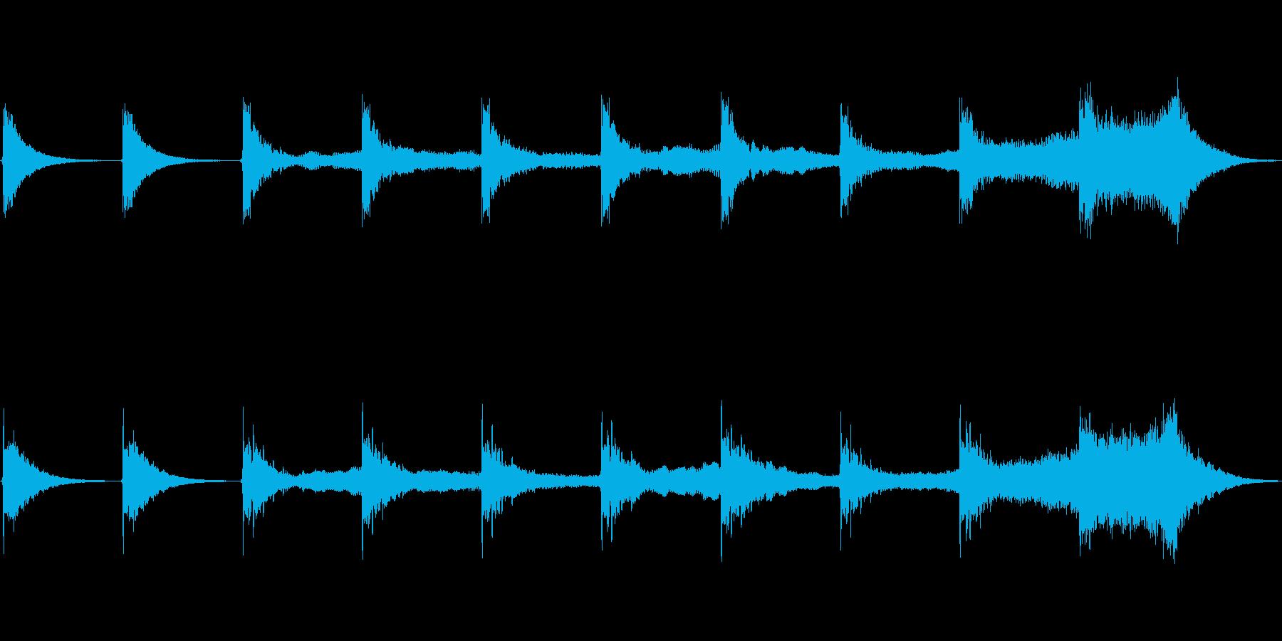 シーケンス ベースヒット01の再生済みの波形