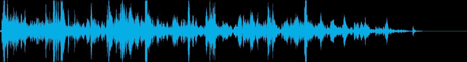 シンク:ドレン、バブルグルグルの再生済みの波形