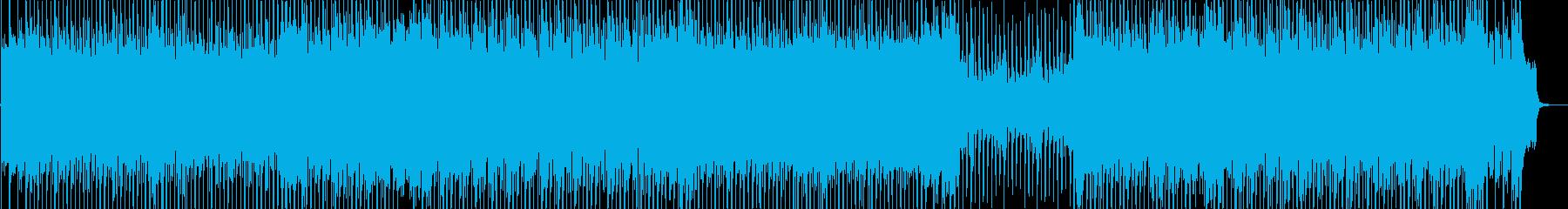 ワクワク感のあるシンセサイザーポップの再生済みの波形
