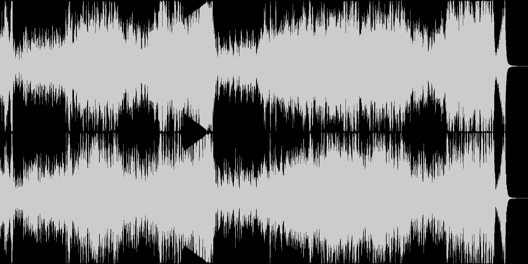 明るいアップテンポなポップオーケストラの未再生の波形