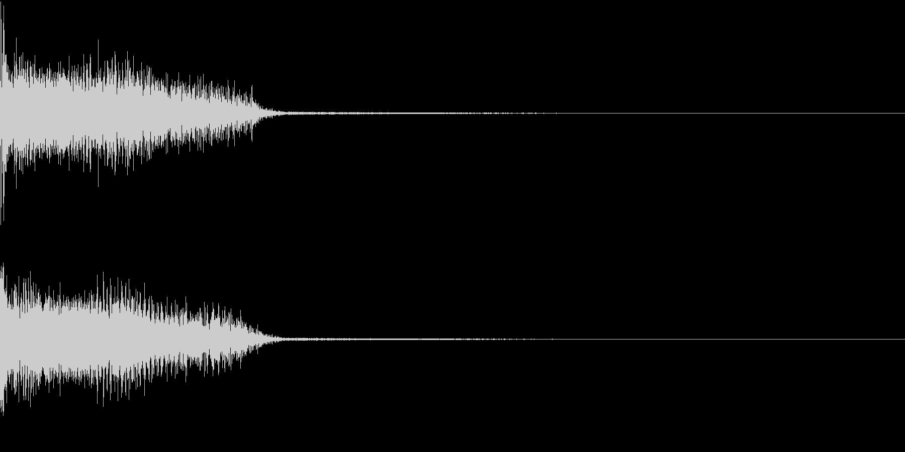 InvaderBuzz 発砲音 14の未再生の波形