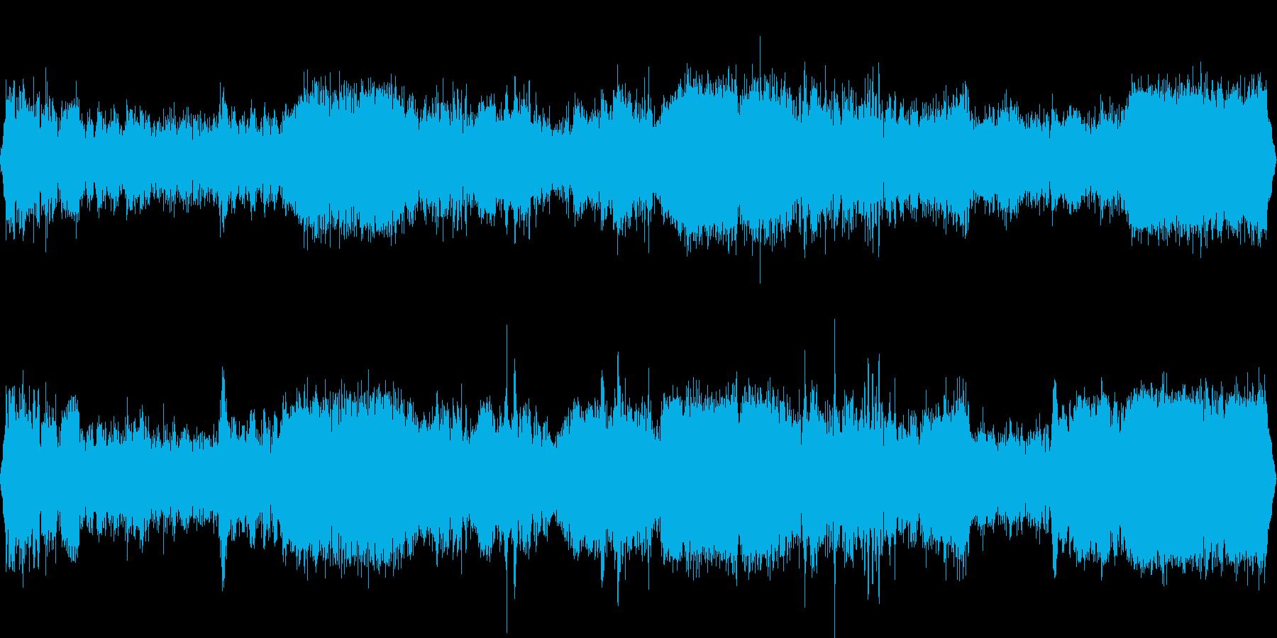 工事現場の重機音の再生済みの波形