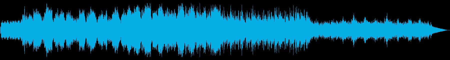 ピアノと笛の陽だまりの下のポカポカな曲の再生済みの波形