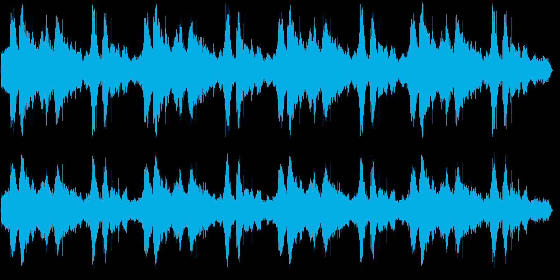 海の波の音を臨場感たっぷりに聞かせるこ…の再生済みの波形
