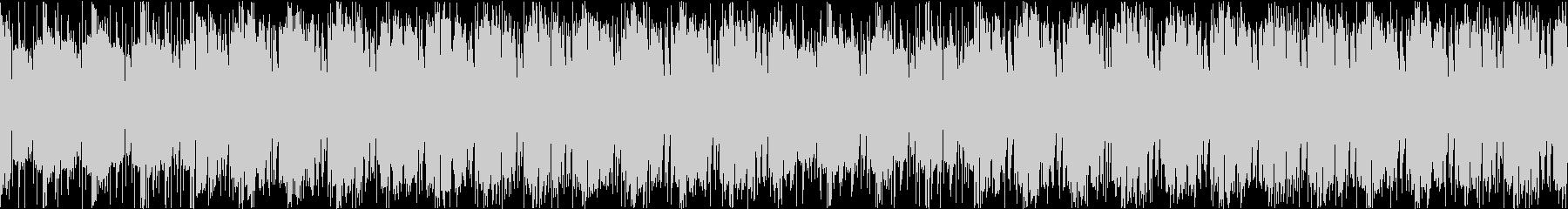 フルートとパーカッションのコミカルサンバの未再生の波形