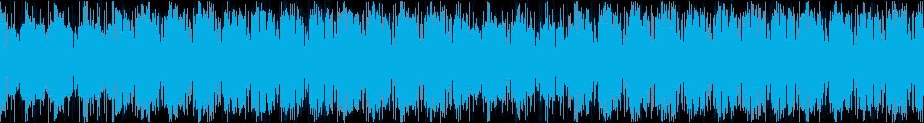 フルートとパーカッションのコミカルサンバの再生済みの波形