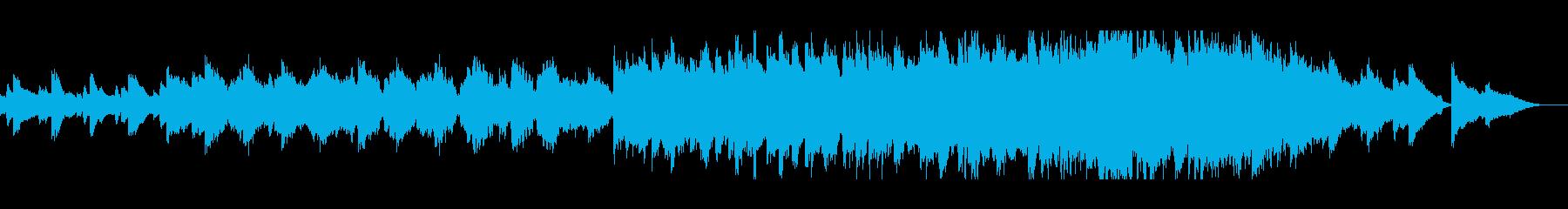琴の音色が日本的なシンセミュージックの再生済みの波形