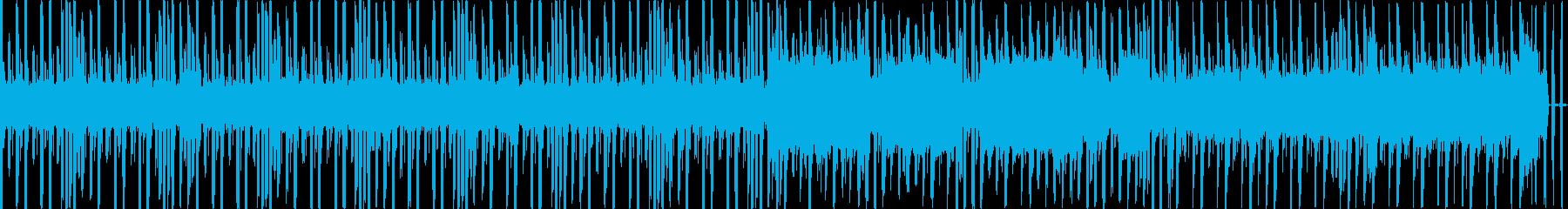 海で漂うチップチューン風なループBGMの再生済みの波形