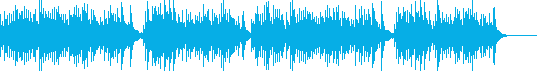 伝承歌「小山の子うさぎ」ハープのインストの再生済みの波形