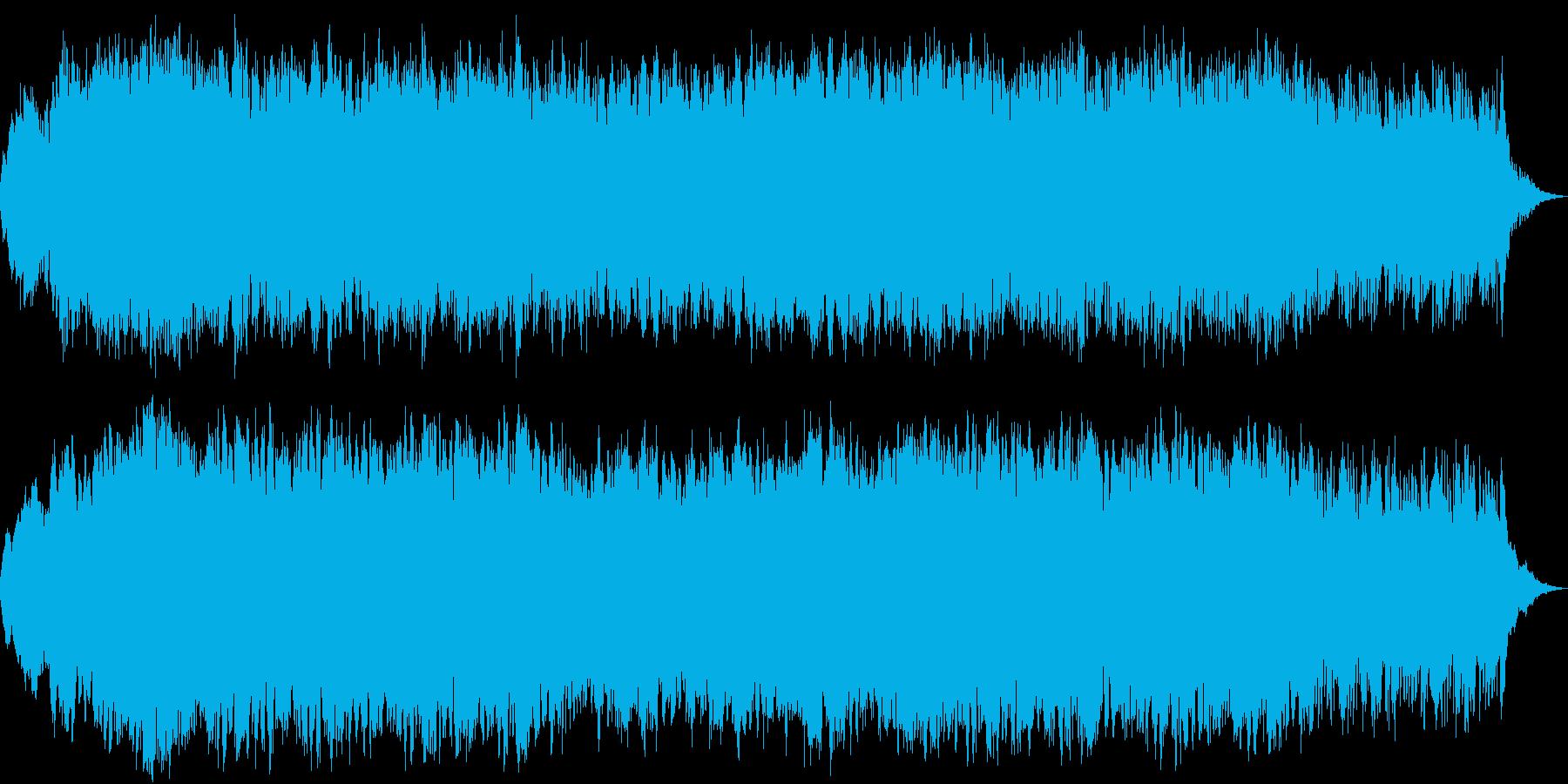 和風の琴とストリングスの再生済みの波形