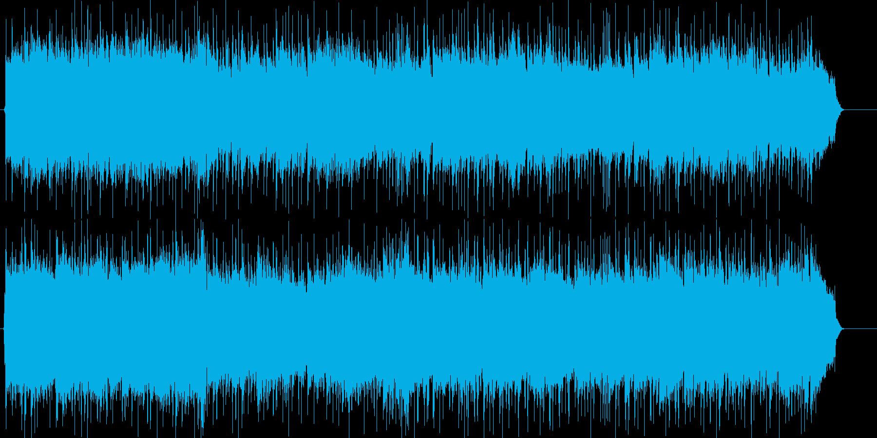 ギターメインの元気なポップロックの再生済みの波形