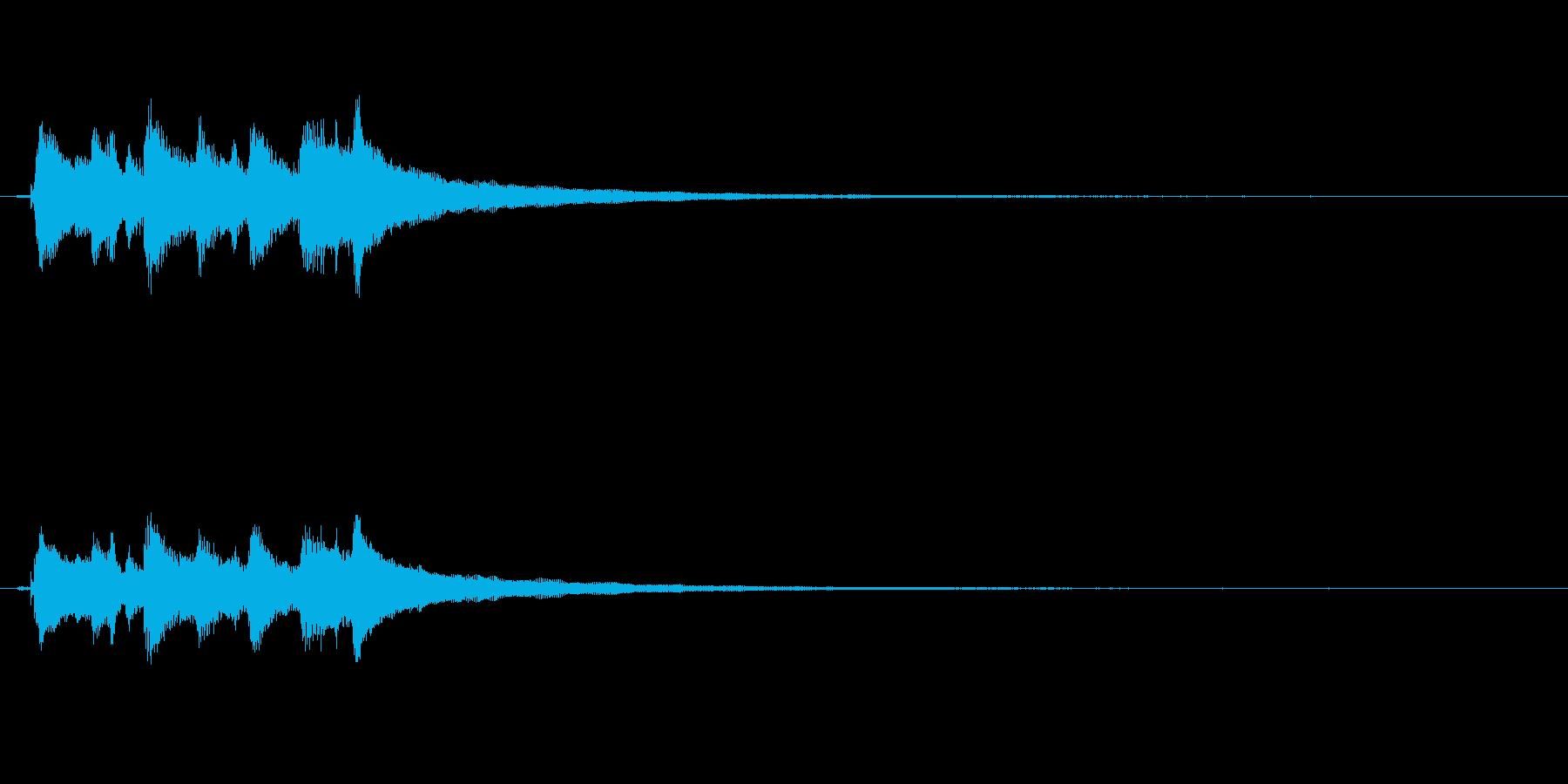 アコースティックギター、ハッピーコ...の再生済みの波形