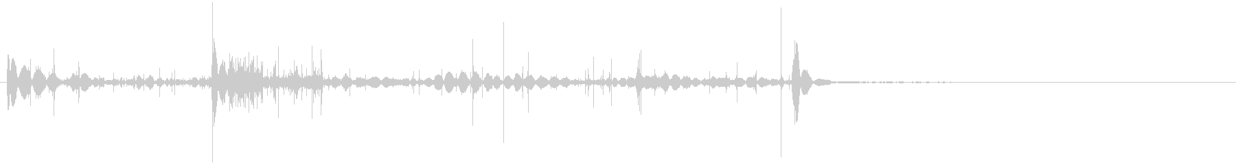 静的記録2の未再生の波形