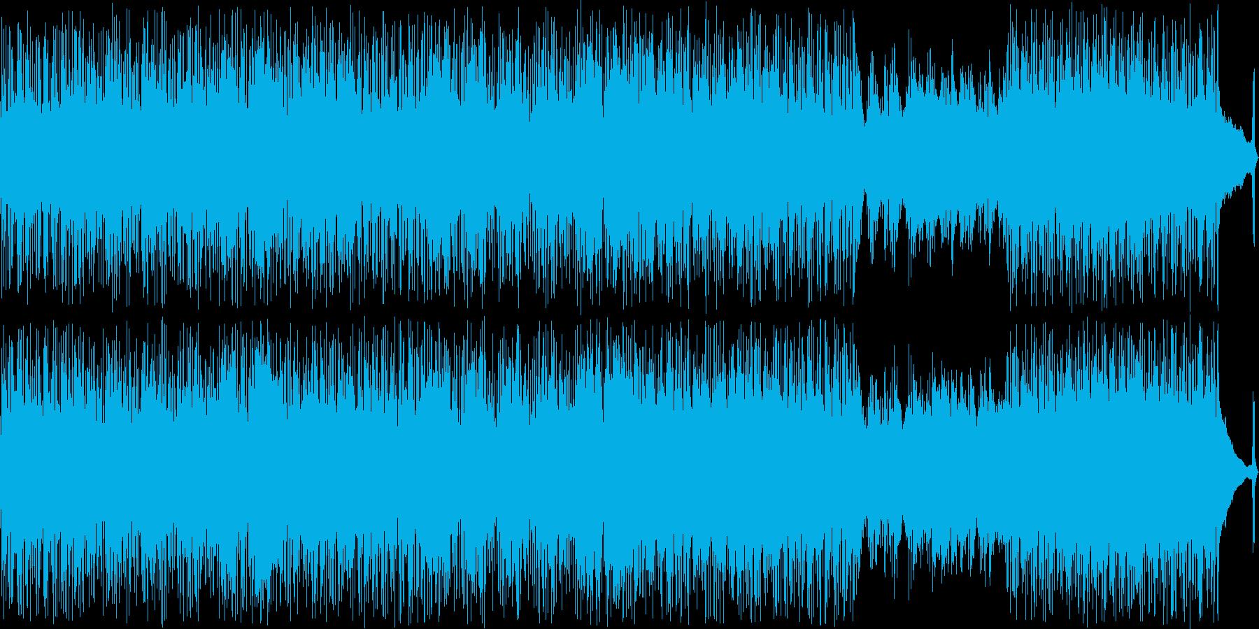 攻撃的なヴォーカルのパンクロックの再生済みの波形