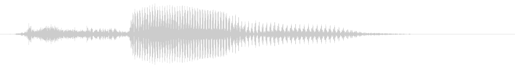 3 (three 英語) 数字-連結可の未再生の波形