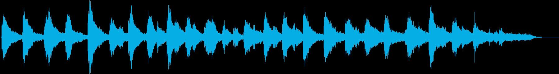 心を落ち着かせるピアノアンビエントの再生済みの波形