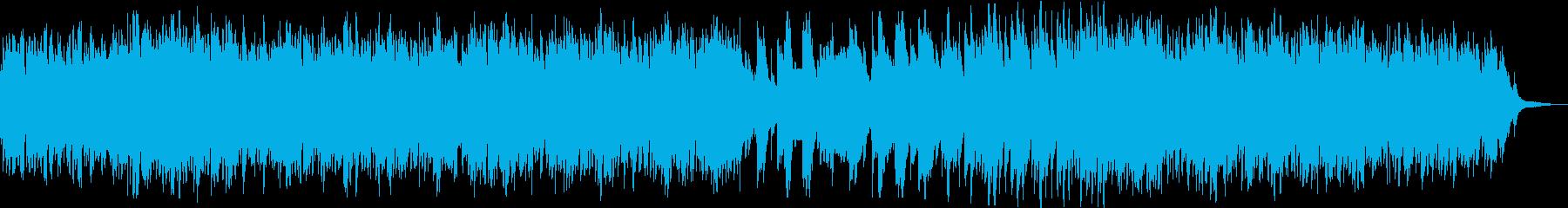 ゆったりと落ち着いたピアノソロ曲の再生済みの波形