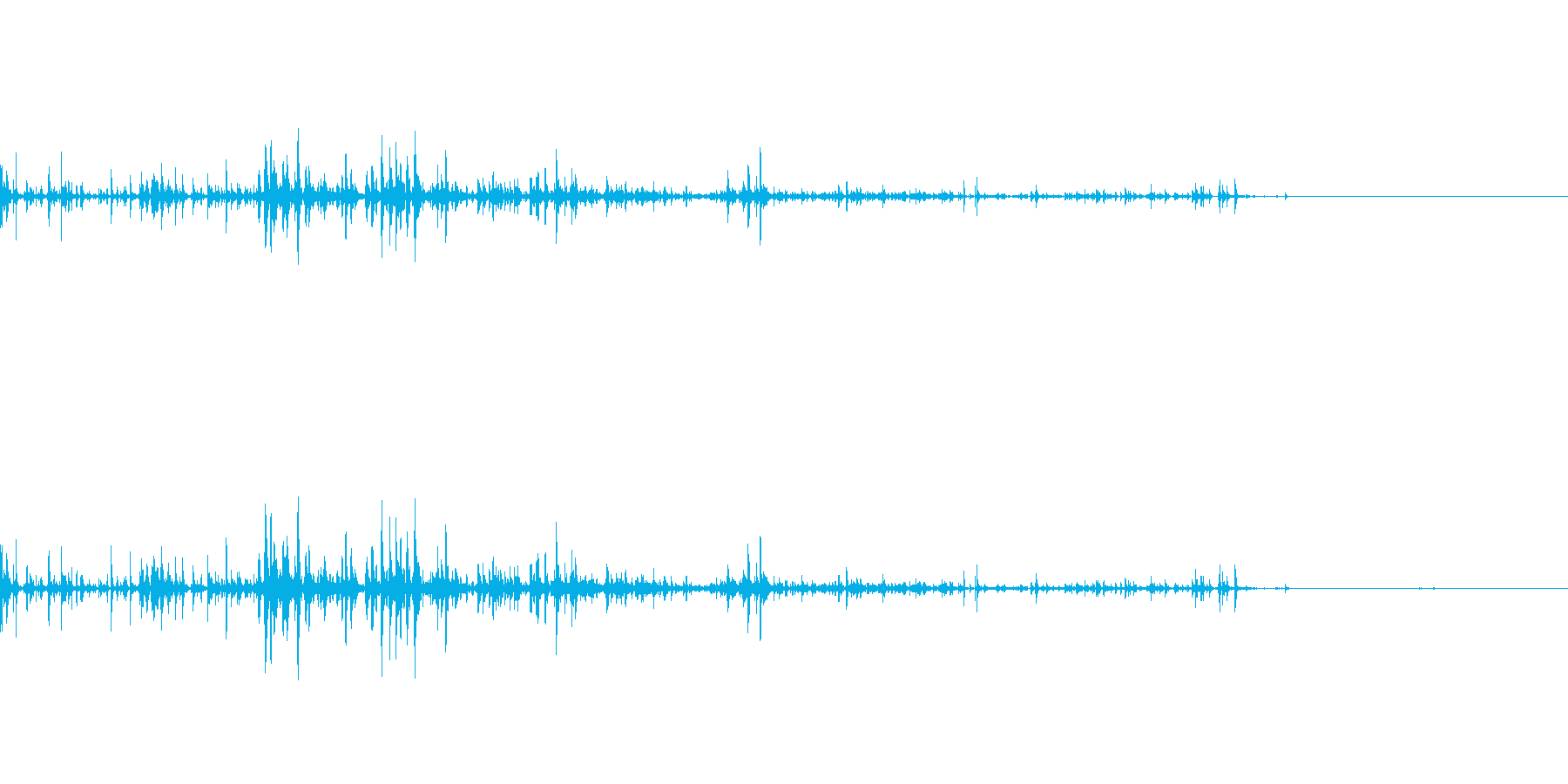 コップに飲み物を注ぐ音の再生済みの波形