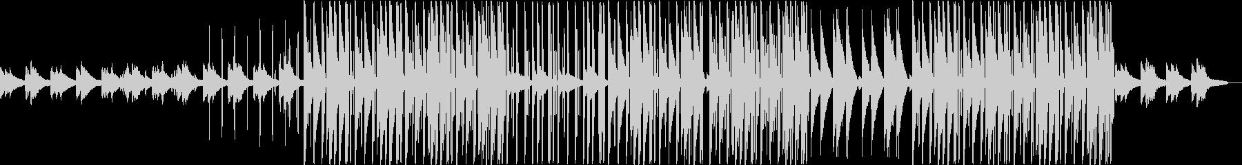 ピアノの感動的なトラップビートの未再生の波形