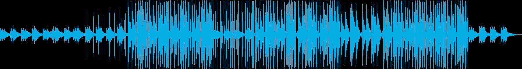 ピアノの感動的なトラップビートの再生済みの波形