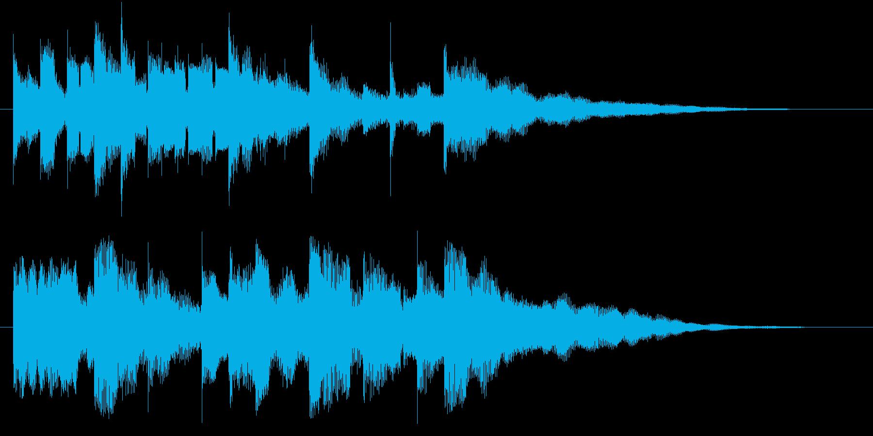 クール&美しい映像オープニングロゴの再生済みの波形