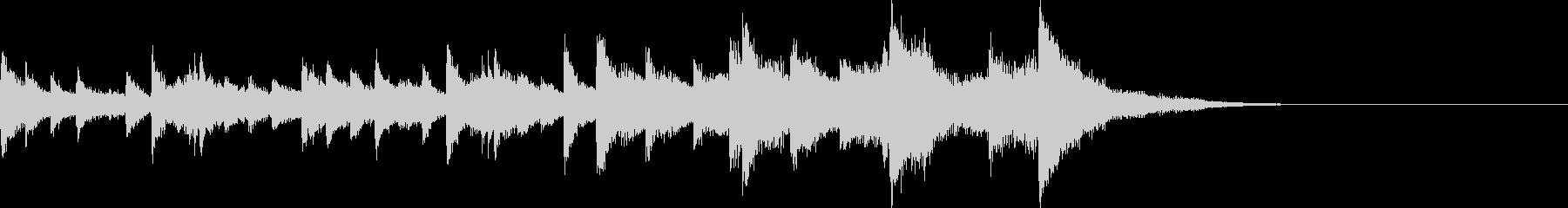 ピアノソロ タイトル画面の未再生の波形