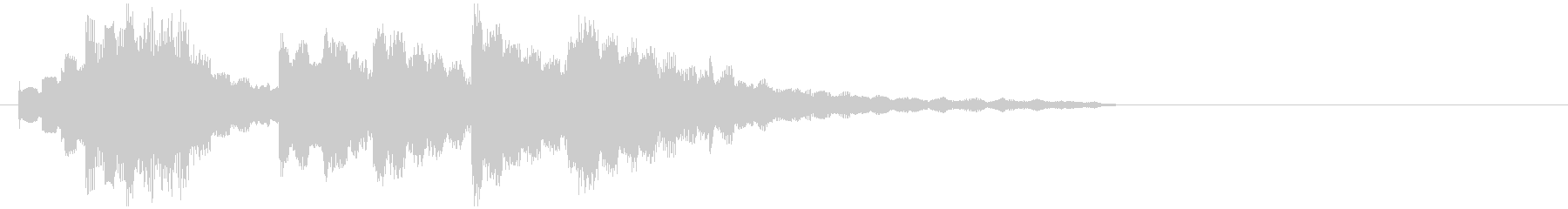 Pretty and cheerful music box style jingle's unreproduced waveform