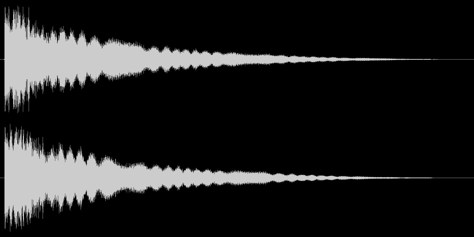 キラッと何かを獲得した音の未再生の波形