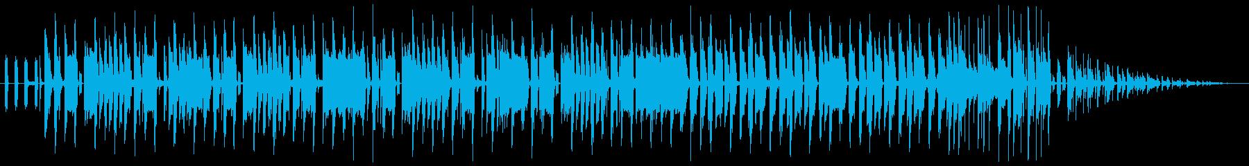 パンチの効いた重低音ベースサウンドの再生済みの波形