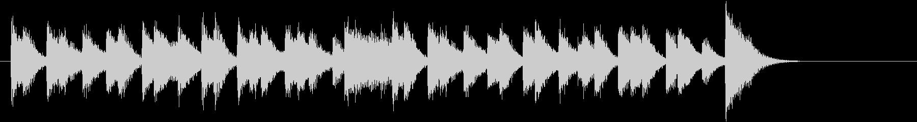 ラテンリズムの軽やか可愛いピアノジングルの未再生の波形