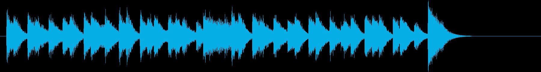 ラテンリズムの軽やか可愛いピアノジングルの再生済みの波形