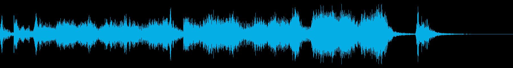 6秒広告用の華やかなビッグバンドジャズの再生済みの波形