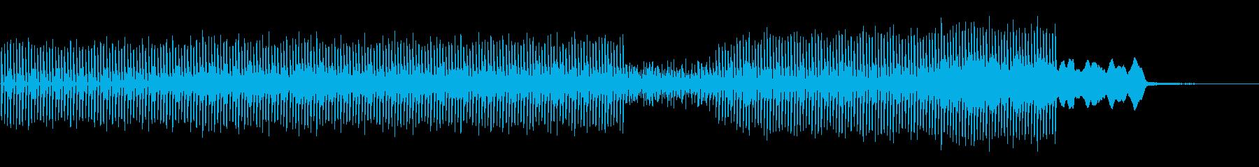 電子楽器。期待感のあるロボット的で...の再生済みの波形