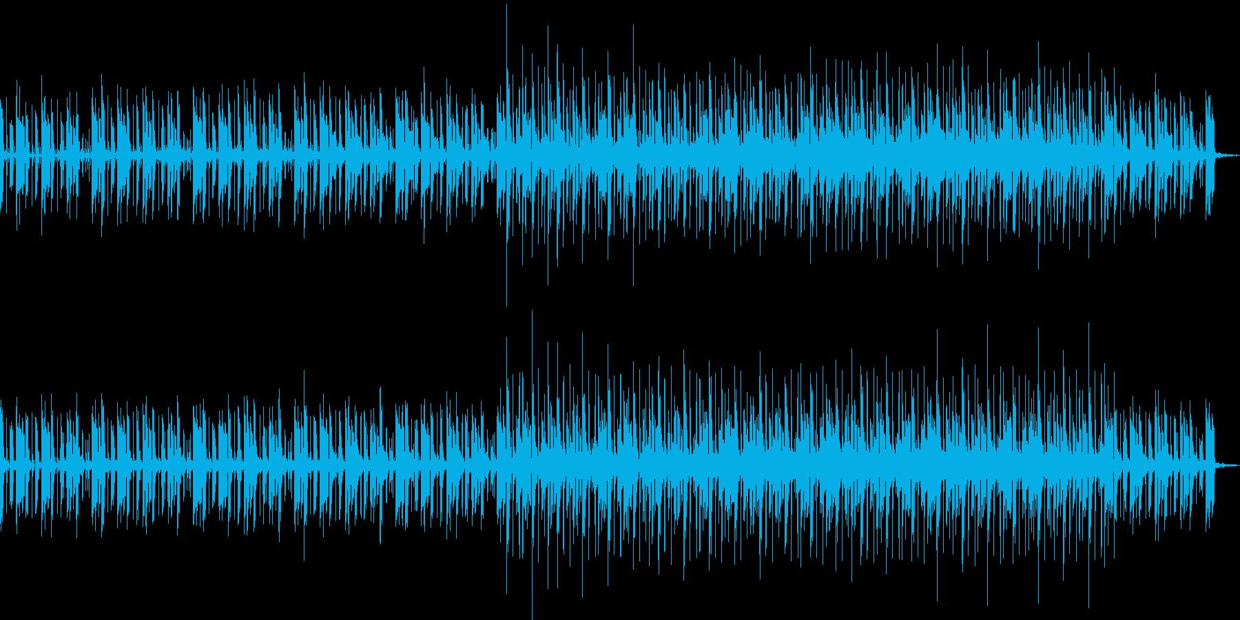 大自然を想像するリズミカルで力強い曲の再生済みの波形