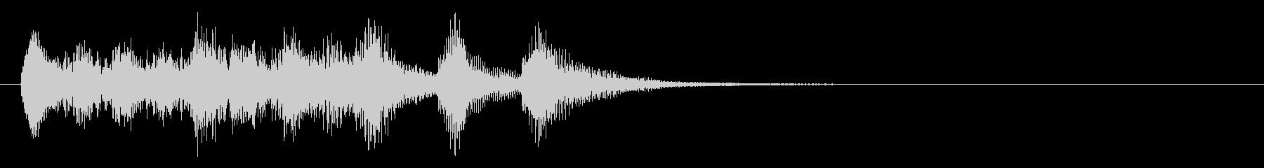 のほほんジングル020_慌ただしい-3の未再生の波形