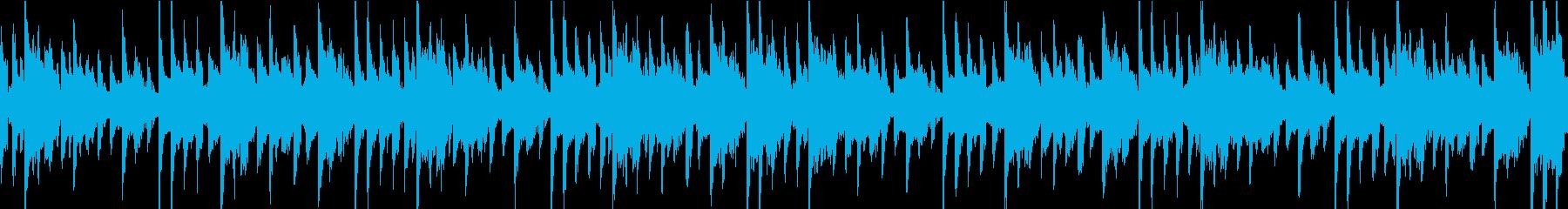 控えめなテクノのチュートリアル的な曲の再生済みの波形