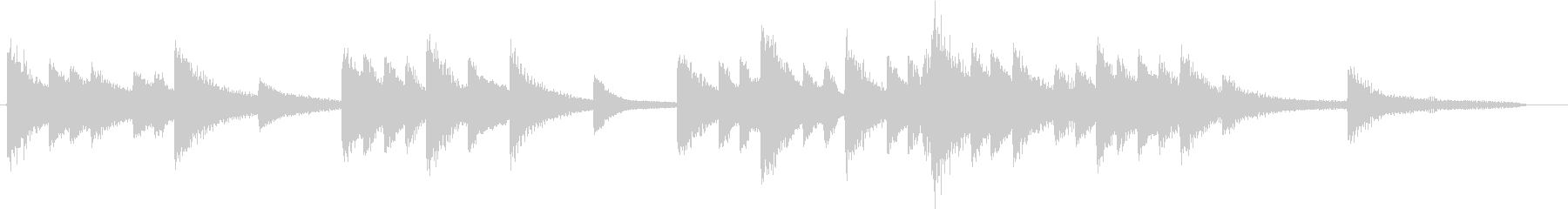 四季より「冬」モチーフのピアノジングルCの未再生の波形
