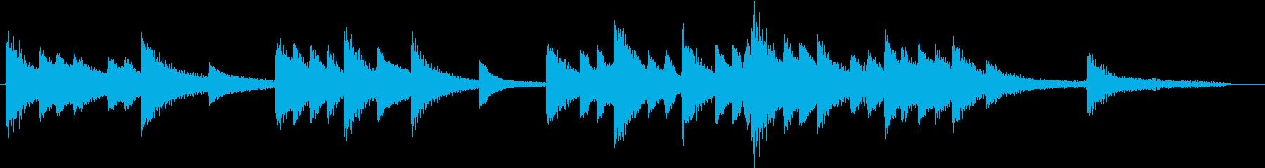 四季より「冬」モチーフのピアノジングルCの再生済みの波形
