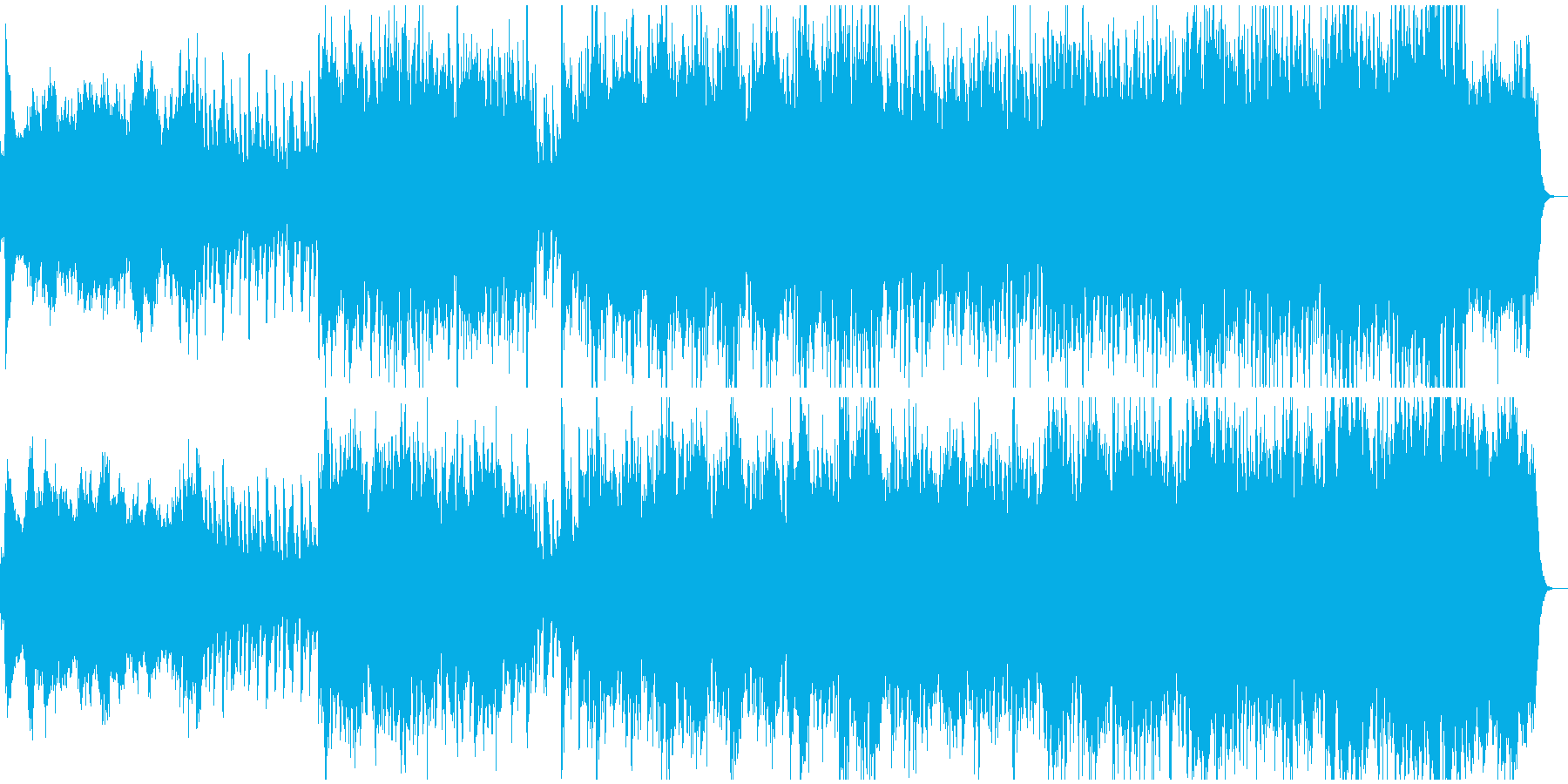 大河ドラマ的な管弦楽オーケストラの再生済みの波形
